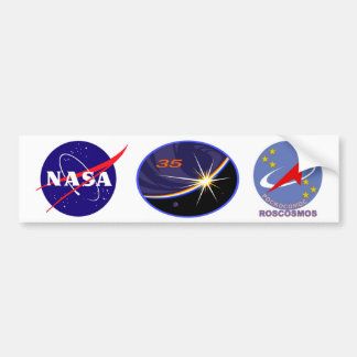 Expedition Crews to the ISS :   Expedition 35 Bumper Sticker