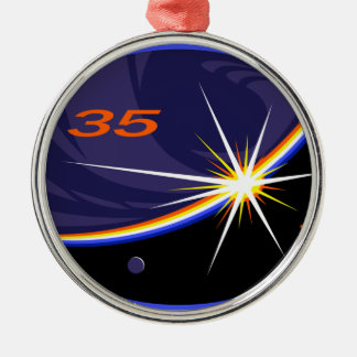 Expedition Crews to the ISS :   Expedition 35 Round Metal Christmas Ornament
