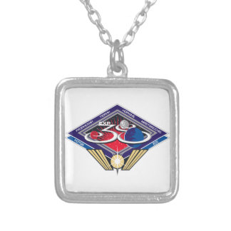 Expedition Crews to the ISS:  Expedition 38 Silver Plated Necklace