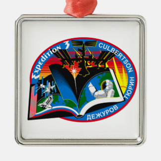 Expedition Crews to the ISS:  Expedition 3 Metal Ornament
