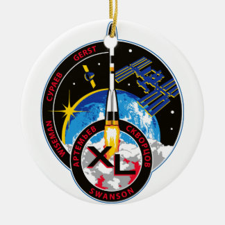 Expedition Crews to the ISS:   Expedition 40 Double-Sided Ceramic Round Christmas Ornament