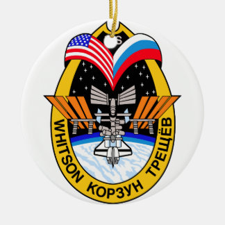 Expedition Crews to the ISS:  Expedition 5 Double-Sided Ceramic Round Christmas Ornament