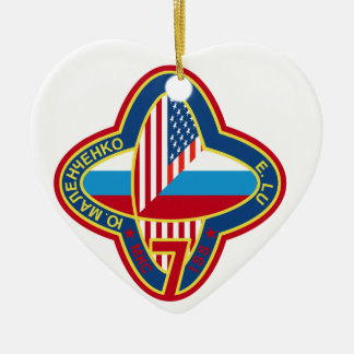 Expedition Crews to the ISS:  Expedition 7 Ceramic Ornament