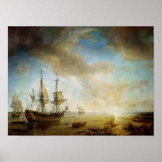 Expedition of Robert Cavelier de La Salle Poster