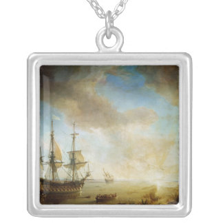 Expedition of Robert Cavelier de La Salle Silver Plated Necklace