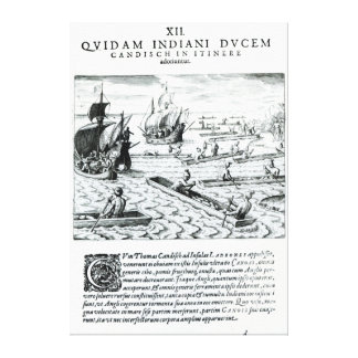 Expedition of Thomas Cavendish Stretched Canvas Prints