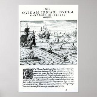 Expedition of Thomas Cavendish Print