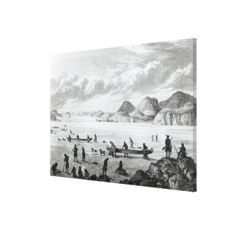 Expedition passing through Point Lata on the Canvas Print