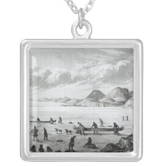 Expedition passing through Point Lata on the Silver Plated Necklace