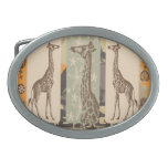 Expeditiontees Giraffa Camelopardalis Oval Belt Buckles
