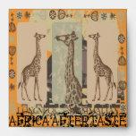Expeditiontees Giraffa Camelopardalis Envelopes