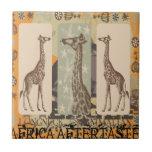 Expeditiontees Giraffa Camelopardalis Ceramic Tiles