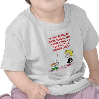 expelled school little moron joke tee shirts