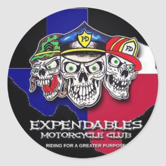 Expendables MC Classic Round Sticker