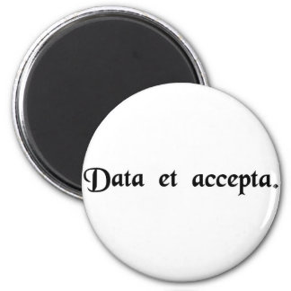 Expenditure and receipts 2 inch round magnet