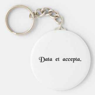 Expenditure and receipts basic round button keychain