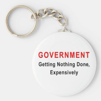 Expensive Government Basic Round Button Keychain