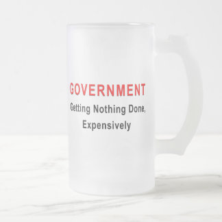 Expensive Government Frosted Glass Beer Mug