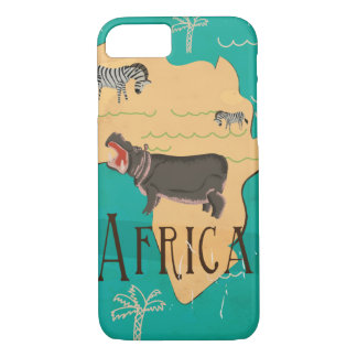 Experience Africa Vintage Travel Poster iPhone 8/7 Case