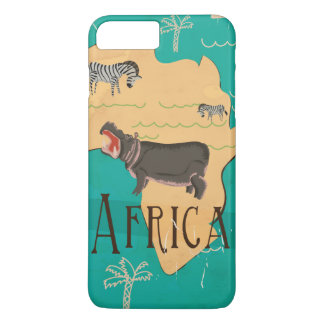 Experience Africa Vintage Travel Poster iPhone 8 Plus/7 Plus Case