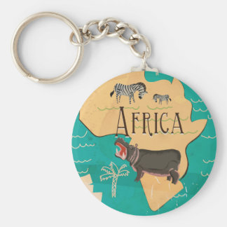 Experience Africa Vintage Travel Poster Keychain
