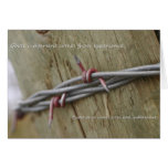 Experience Barb wire fence greeting card