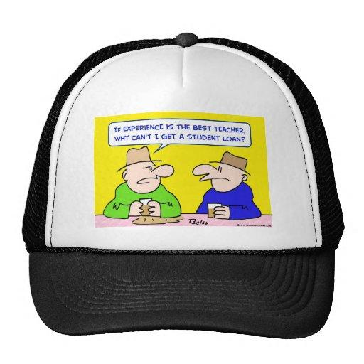 experience best teacher student loan trucker hat