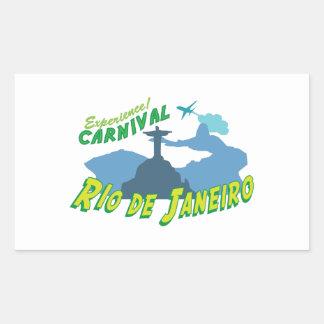 Experience Carnival Rectangular Sticker