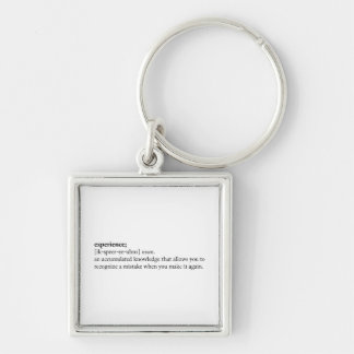 Experience - Dictionary Definition Keychain