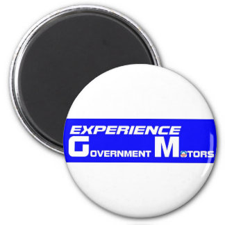 Experience Government Motors 2 Inch Round Magnet