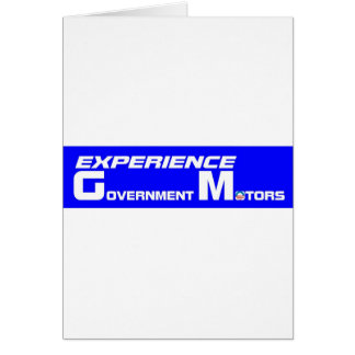 Experience Government Motors Card