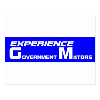 Experience Government Motors Postcard