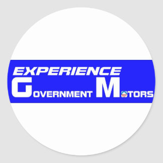 Experience Government Motors Round Stickers