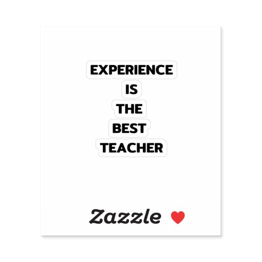 Experience is the best teacher sticker