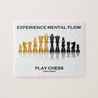 Experience Mental Flow Play Chess (Chess Set) Jigsaw Puzzle