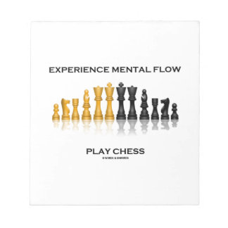 Experience Mental Flow Play Chess (Chess Set) Memo Notepad
