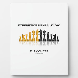 Experience Mental Flow Play Chess (Chess Set) Plaque