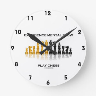 Experience Mental Flow Play Chess (Chess Set) Round Clock