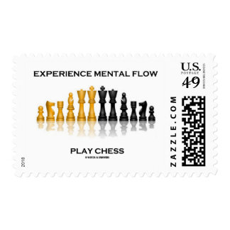 Experience Mental Flow Play Chess (Chess Set) Stamp