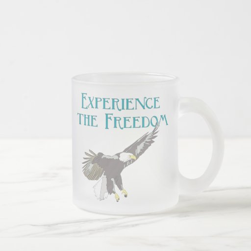 Experience the Freedom 10 Oz Frosted Glass Coffee Mug