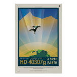 Experience the Gravity of a Super Earth HD 40307g Print
