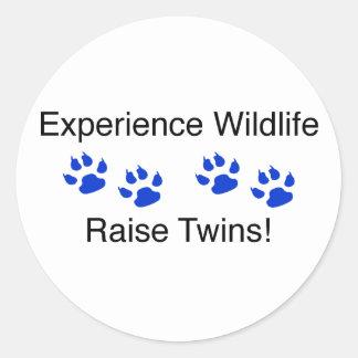 Experience Wildlife Raise Twins Classic Round Sticker