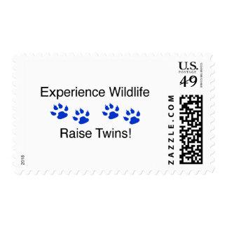 Experience Wildlife Raise Twins Postage