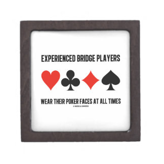 Experienced Bridge Players Wear Their Poker Faces Premium Jewelry Box