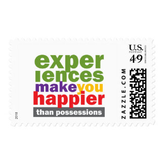 Experiences Make You Happier Than Possessions Stamp