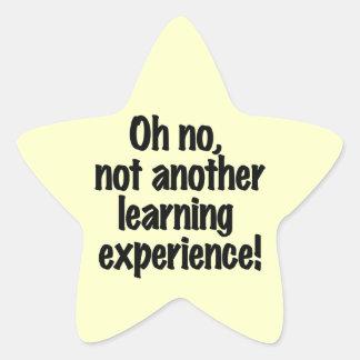Experiencia de aprendizaje calcomania forma de estrella