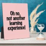 Experiencia de aprendizaje placa de plastico