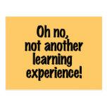 Experiencia de aprendizaje postal