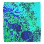 Experiencia floral del verde azul bandana