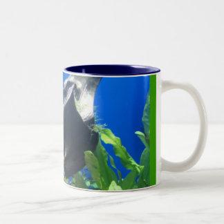 Experiencia subacuática taza de dos tonos
